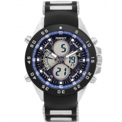 Zegarek męski PERFECT- CARBUS Dual time - LED - A809-1A