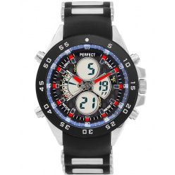 Zegarek męski PERFECT- CARBUS Dual time - LED - A809-2A