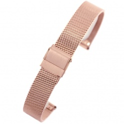 bransoleta - siatka  pacific - pvd rose gold- 16mm