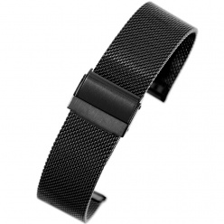 bransoleta - siatka mesh pacific - pvd black - 22mm