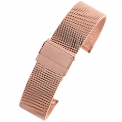 bransoleta - siatka mesh pacific - pvd rose gold- 22mm