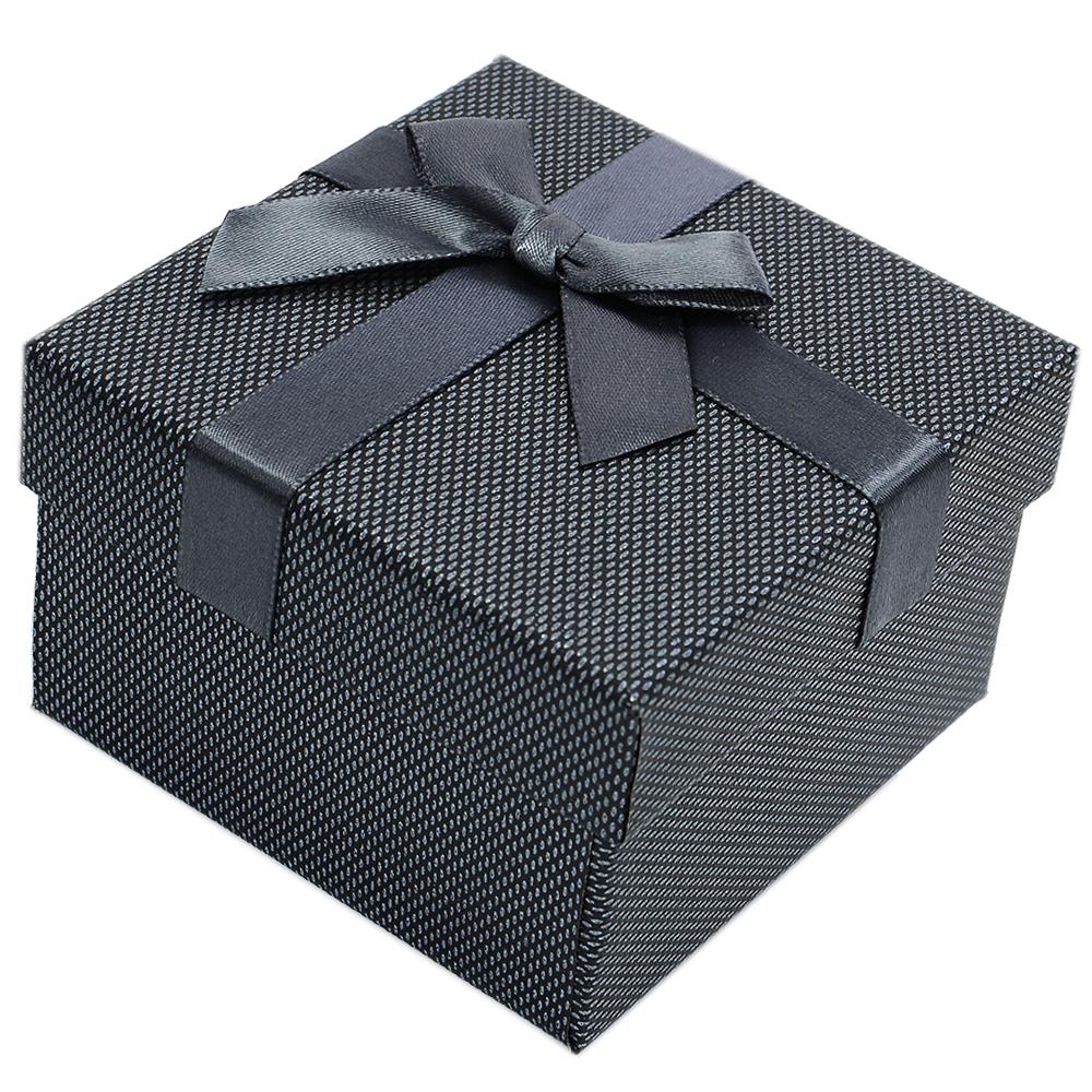 7bc6d63fc993ee Grafitowe pudełko prezentowe na zegarek exclusive - 7685 - alleTime