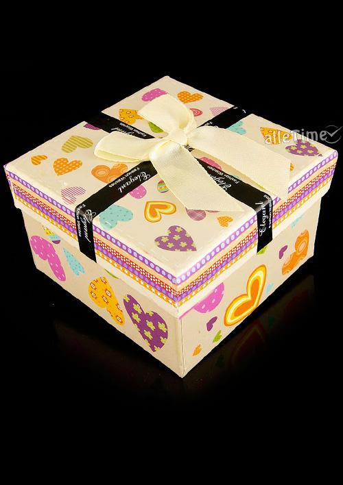 fa89a6b6e91ee2 Prezentowe pudełko na zegarek ELEGANT -4A - beżowy - alleTime
