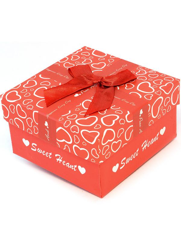 1dd92f93e178a8 Prezentowe pudełko na zegarek - Sweet Heart - czerwony - 2734 - alleTime