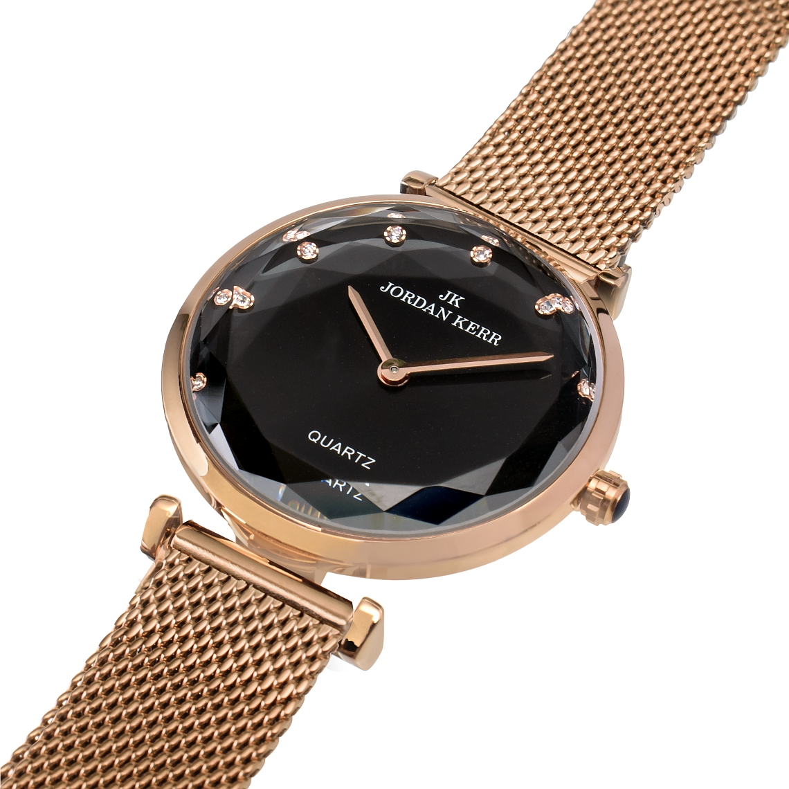 Zegarek damski Jordan Kerr LENE różowo złoty ct 9576