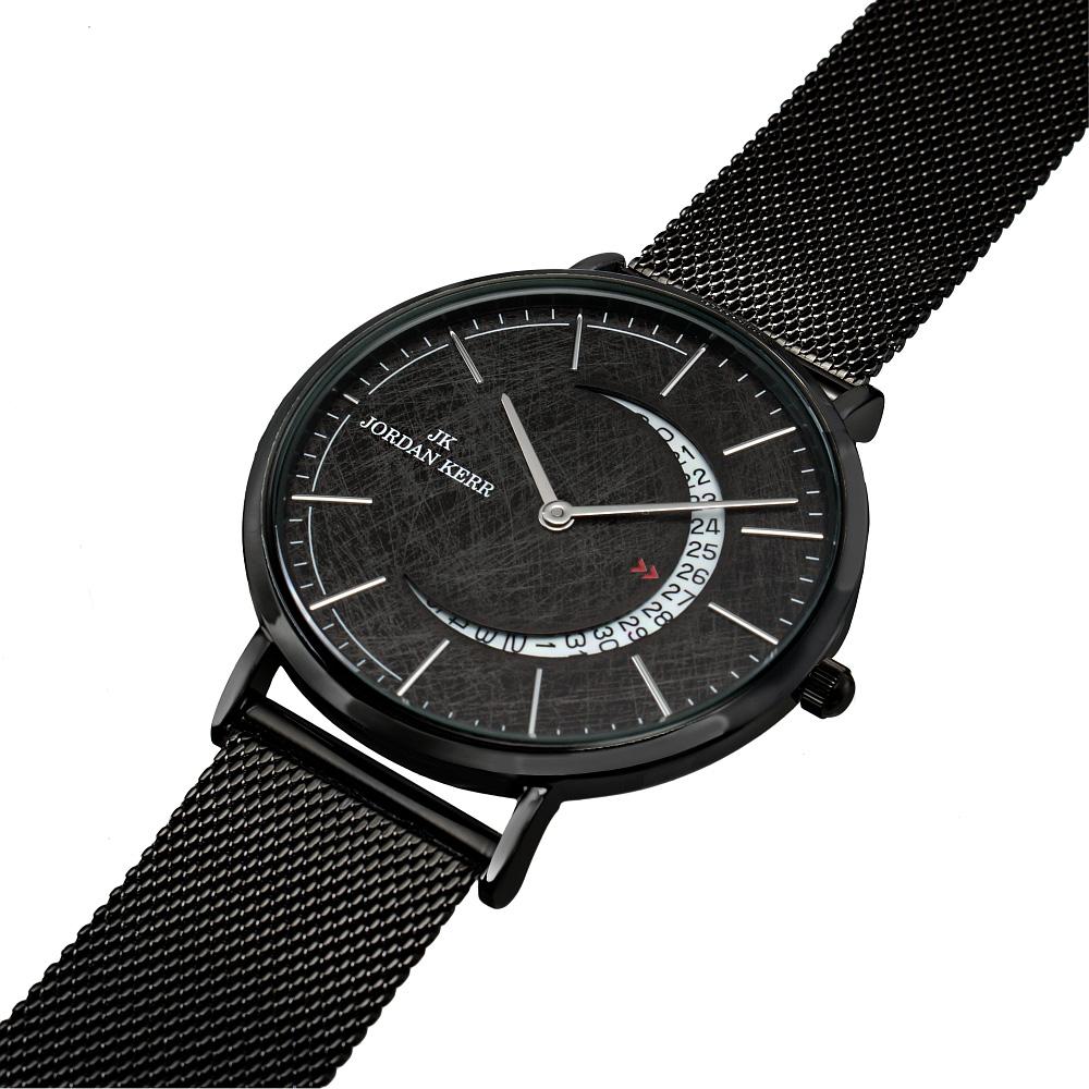 Zegarek uniseks Jordan Kerr Lunar Czarny 10084 alleTime