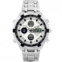 zegarek męski perfect- carrero dual time - led - a816-3a
