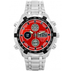zegarek męski perfect- carrero dual time - led - a816-4a