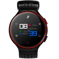 Zegarek męski Smartwatch Pacific SMART SM01 Pulsometr black/red